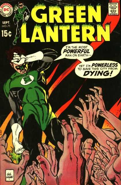Green Lantern (1960) 71 - Super Power - Superhero - Costumes - Power Ring - Destruction