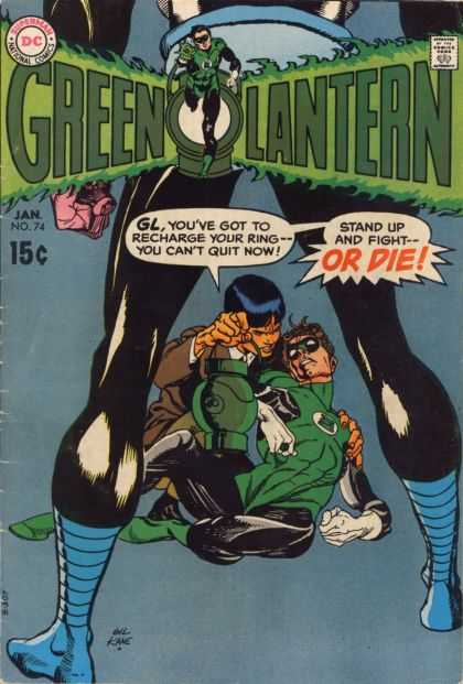 Green Lantern (1960) 74 - Green Hero - Do Or Die - Fight Or Die - Lantern - Big Hero