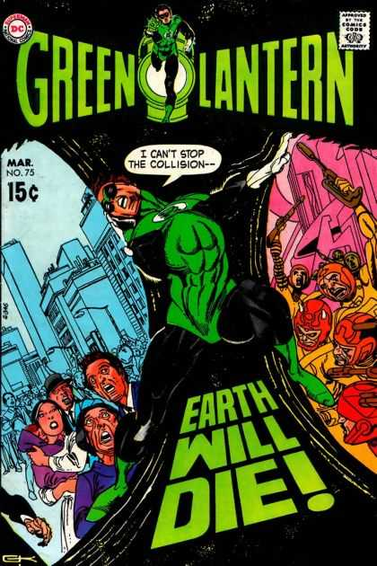 Green Lantern (1960) 75 - Hero - Green Cap - Glowing Ring - Dc Comic - Fighting Vilins