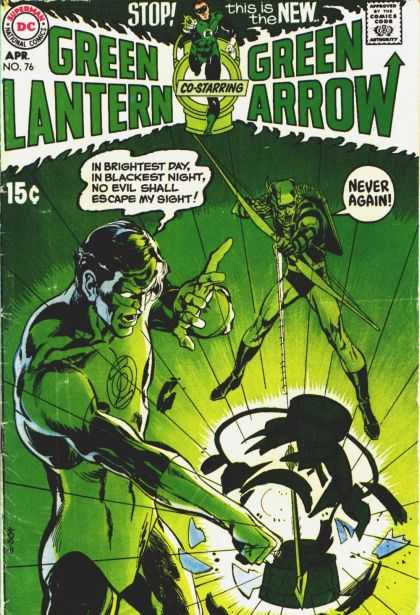 Green Lantern (1960) 76 - Never Again - Punch - Arrow - Explosion - Heroes - Jack Adler, Neal Adams