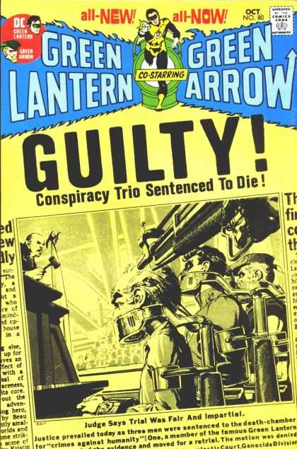 Green Lantern (1960) 80 - Green Arrow - Death Sentence - Conspiracy Trio - Justice - Fair Trial - Jack Adler, Neal Adams