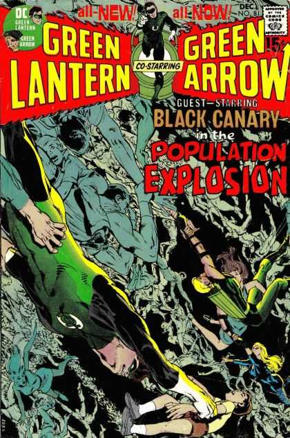 Green Lantern (1960) 81 - Comics Code - All-new All Now - Green Arrow - Population Explosion - Black Canary - Jack Adler, Neal Adams