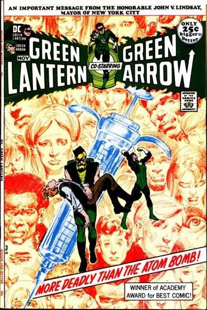 Green Lantern (1960) 86 - Green Arrow - Needle - Dc Comics - Green Suit - Carrying Man - Neal Adams