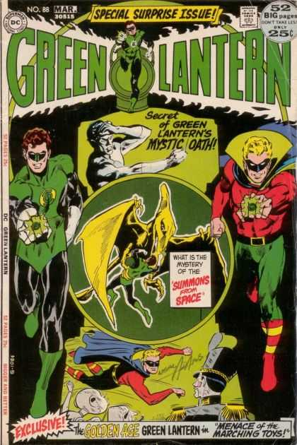 Green Lantern (1960) 88 - Mystic Oath - Summons From Space - Glowing Green Rings - Marching Toys - 52 Big Pages - Neal Adams
