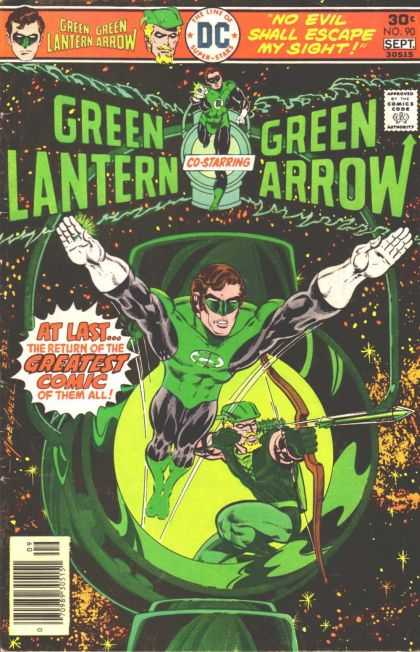 Green Lantern (1960) 90 - No Evil Shall Escape My Sight - Green Arrow - Dc - At Last - The Return Of The Greatest Comic Of Them All - Mike Grell