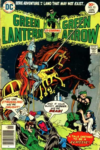 Green Lantern (1960) 92 - Horse - Armour - Sword - Fighting - Bow And Arrow - Mike Grell