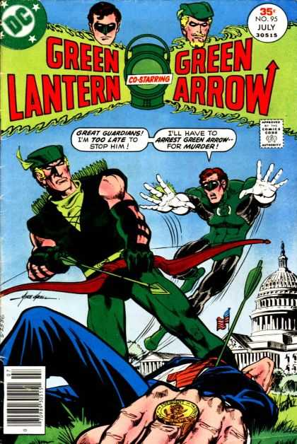 Green Lantern (1960) 95 - Green Lantern - Green Arrow - 35cent - Co-starring - Guardians - Mike Grell