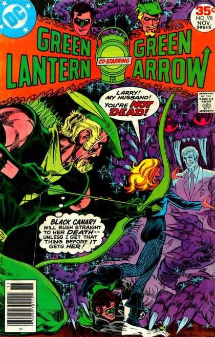 Green Lantern (1960) 98 - Black Canary - Dc Comics - Green Latern - Green Arrow - Youre Not Dead - Mike Grell