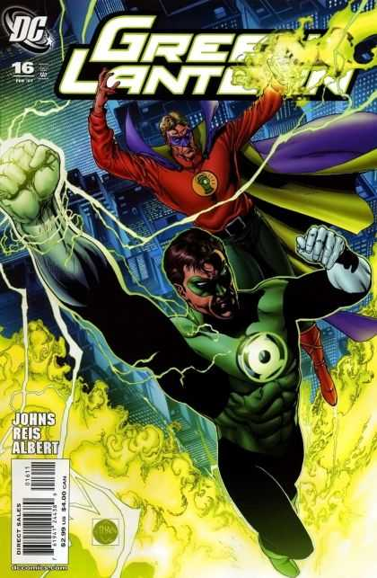 Green Lantern (2005) 16 - Electric - Super Power - Green Flames - Energy - Masked Heroes - Sciver Van
