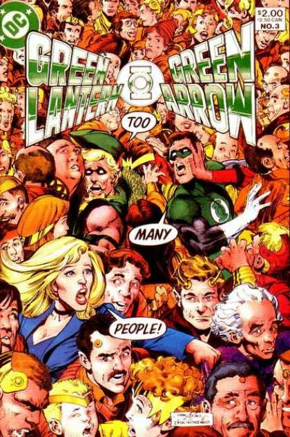 Green Lantern/ Green Arrow 3 - Too - Many - Crowd - People - Dc