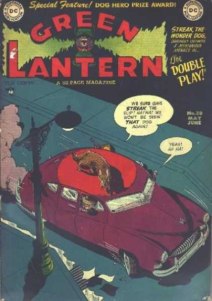 Green Lantern 38 - Special Feature - The Double Play - Streak The Wonder Dog - Car - Lamp Post - Alex Toth