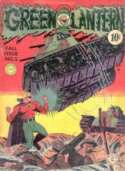 Green Lantern 5 - Tank - Battle - Soldiers - Foxhole - Attack