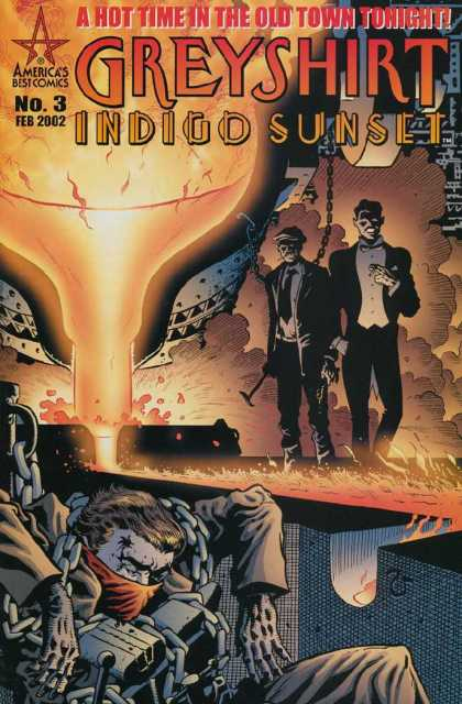 Greyshirt 3 - Americas Best Comics - A Hot Time In The Old Town Tonight - Indigo Sunset - Lava - Death