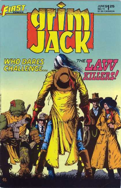 Grimjack 11 - Cowboys - The Law Killers - Dusters - Lasso - Cowboy Hats - Timothy Truman