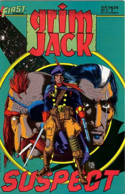 Grimjack 13 - First Comics - Suspect - Guns - Horse - Red Indian - Timothy Truman