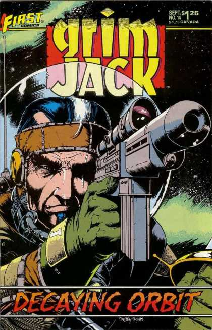 Grimjack 14 - Gun - First Comics - Weapon - Decaying Orbit - Gloves - Timothy Truman