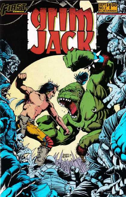 Grimjack 2 - Sept No 2 - Yellow Pants - Green - Earing - Fighting - Timothy Truman
