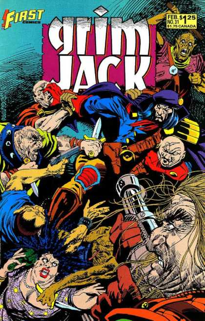 Grimjack 31 - First - Sword - All Are At Same Place - War - Attacked