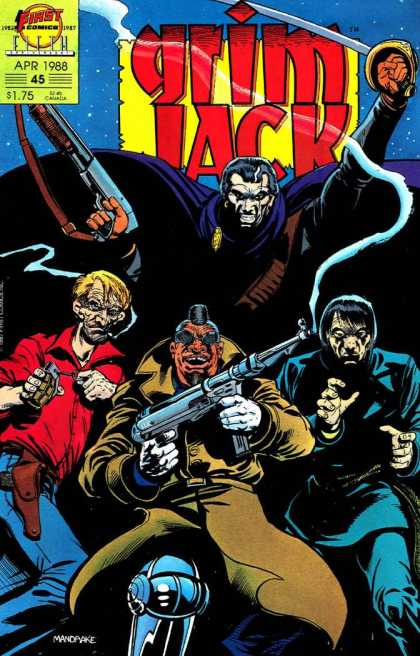 Grimjack 45 - Guns - Monsters - Scar Faces - Sword Raised - Grubby