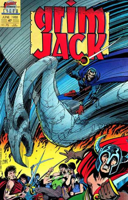 Grimjack 47 - Takes Over Town - Released In June 1988 - Wall Of Fire - Dragon - Thor