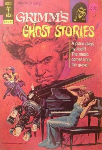 Grimm's Ghost Stories 12 - Gold Key - A Piano Plays By Itself - The Music Comes From The Grave - Horror - Dangerous Ghost