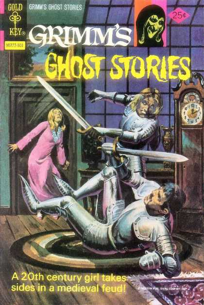 Grimm's Ghost Stories 21 - Two Knights In Armor - Swords - Woman At The Door - Grandfather Clock - Sword Fighting