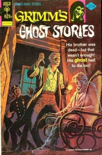 Grimm's Ghost Stories 23 - Man With Knife - Old Lady In Rocking Chair - Officer In Doorway - Wooden Door - Window