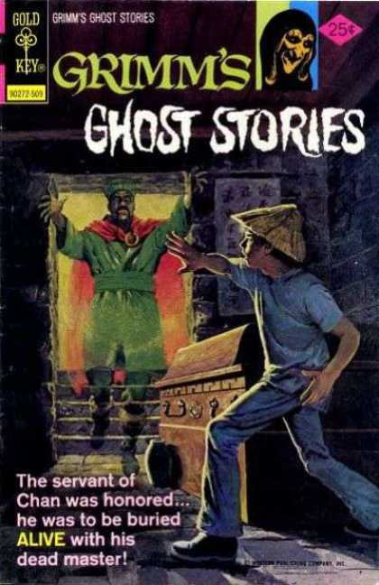 Grimm's Ghost Stories 26 - Gold Key - Green Shirt - 25 Cents - Alive - Tomb