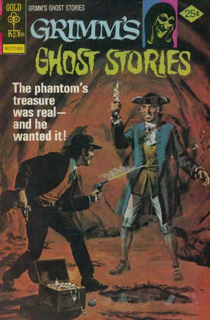 Grimm's Ghost Stories 30 - Gold Key - Gun - Cap - Shooting - The Phantoms Treasure Was Real-and He Wanted It