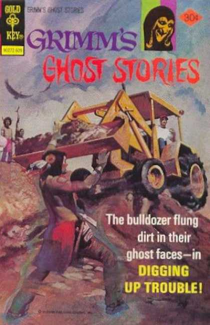 Grimm's Ghost Stories 33 - Gold Key - Monster - Indian - Boy - Bulldozer