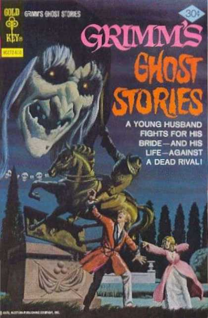 Grimm's Ghost Stories 34 - A Young Husband Fights For His Bride - Ghost - Statue - Horseman - Skulls