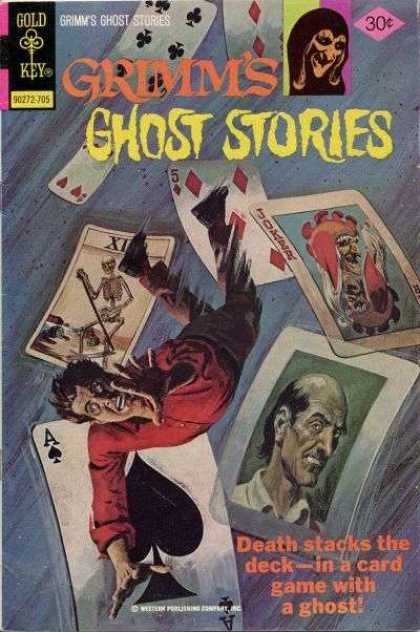 Grimm's Ghost Stories 37 - Gold Key - 30 Cents - Grimm - Death Stacks The Death - Cards