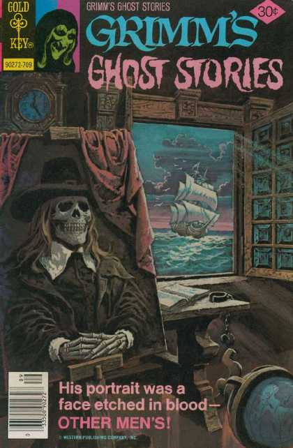 Grimm's Ghost Stories 40 - Gold Key - Ship - Captain - Boat - Skull