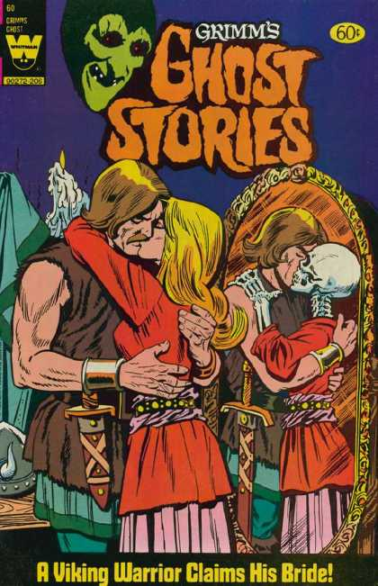 Grimm's Ghost Stories 60 - Couple Kissing - Mirror Reflection - Skeleton - Viking Warrior - Bride