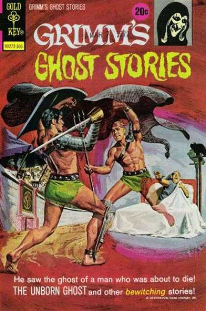 Grimm's Ghost Stories 9 - Men - Bed - Gold Key - The Unborn Ghost - Weapons