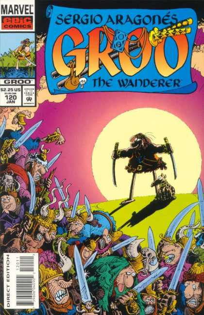 Groo the Wanderer 120 - A Man Only Has His Dog - When The Sun Sets - Internal Conflict - One Has To Fight Back - Mayhem