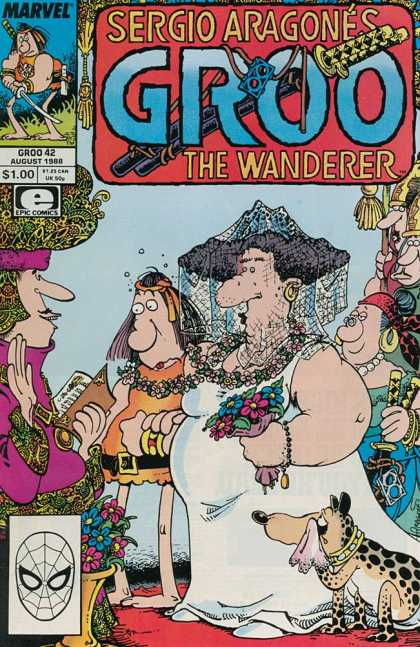 Groo the Wanderer 42 - Sergio Aragone - The Wanderer - Marvel - Wedding - Fat People