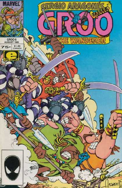 Groo the Wanderer 6 - Sergio Aragones - Swords - Pitch Fork - Shere - Ground - Sergio Aragones