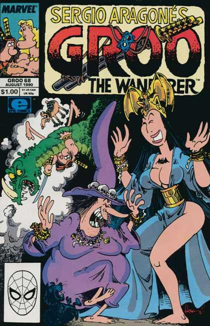 Groo the Wanderer 68 - Sergio Aragone - Alligator Horn - Laughing - Gold Headpiece - Purple Witch