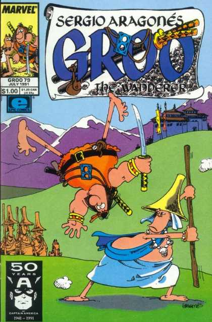 Groo the Wanderer 79 - Sergio Aragone - Captain America - Castle - Viking - Mountains