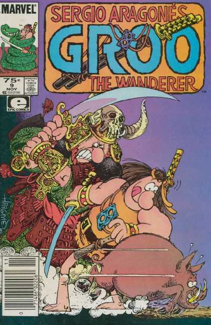 Groo the Wanderer 9 - War - World War 4 - Let Me Get It - The Pig Killer - Move Out The Way