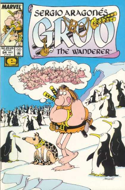 Groo the Wanderer 94 - Penguins - Fried Penguins - Arctic - Ice - Man