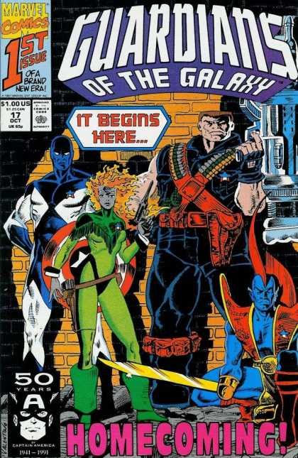 Guardians of the Galaxy 17 - Guardians - Man - Costume - Captain America - Girl - Jim Valentino