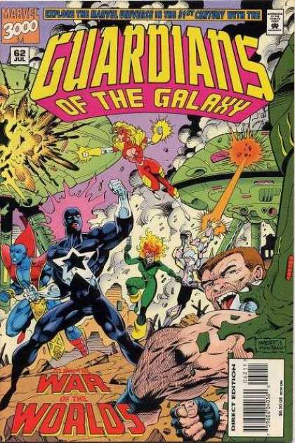 Guardians of the Galaxy 62 - War Of The Worlds - Marvel - Heros - Defending - Attack