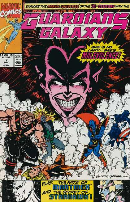 Guardians of the Galaxy 7 - Marvel - Marvel Comics - Malevolence - Marvel Universe - Galaxy - George Perez, Jim Valentino