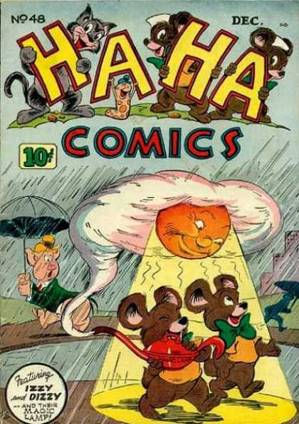Ha Ha Comics 48 - No 48 Dec - Raining - Izzy And Dizzy - Magic Lamp - Sun