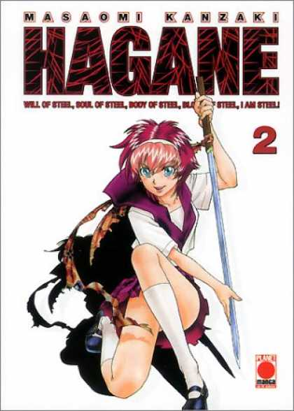 Hagane 2 - Misaomi Kanzaki - Girl With Katana - Pink Hair - Will Of Steel - Body Of Steel