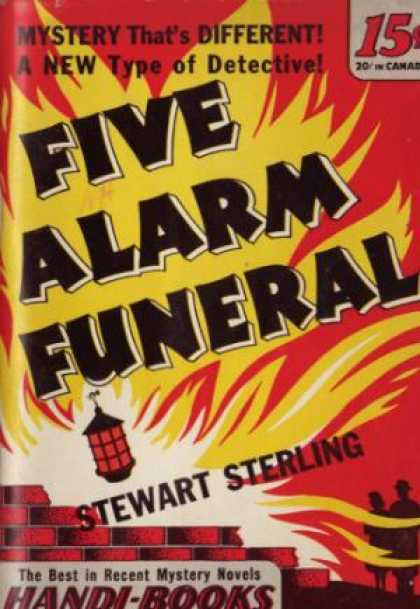 Handi Books - Five Alamr Funeral - Stewart Sterling