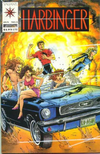 Harbinger 1 - Valiant - Jan No 1 - Smoke - Car - L8-agin - David Lapham