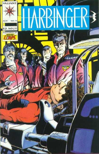 Harbinger 11 - Harbinger - Valiant - Captured By - Hard Corps - 250 - Bob Layton, David Lapham